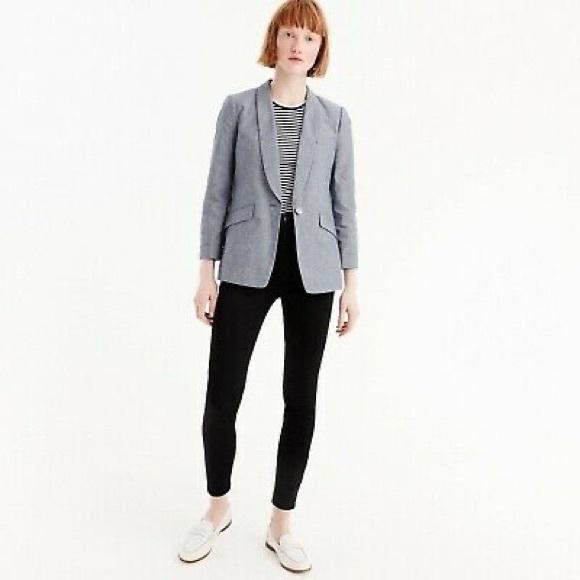 Jcrew Chambray Linen Blazer size 10